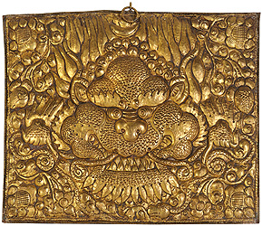 Kirtimukha Wall Hanging Plate with Repousse Work