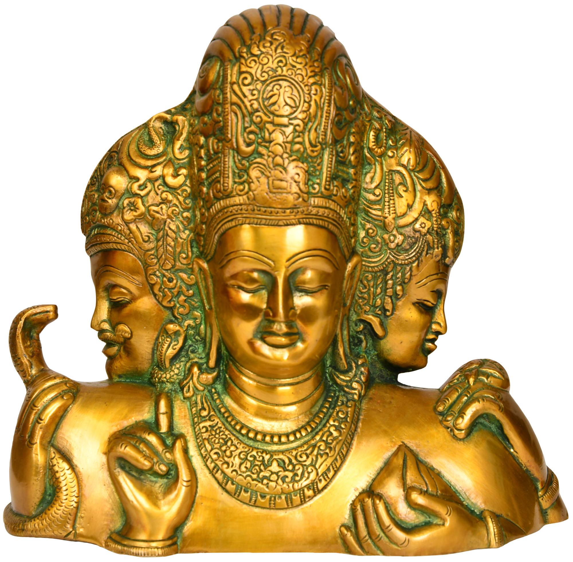 Trimurti From Elephanta Brahma Vishnu And Mahesha