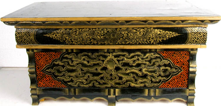 Buddhist Altar Table Painted With Auspicious Symbols
