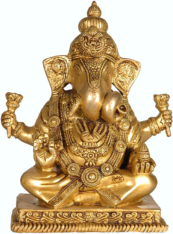 Chaturbhuja Blessing Ganesha