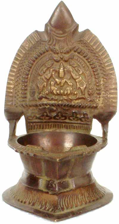 Goddess Gaja Lakshmi Diya (Lamp)
