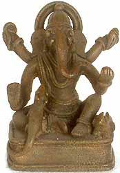 Seated Tribal Ganesha