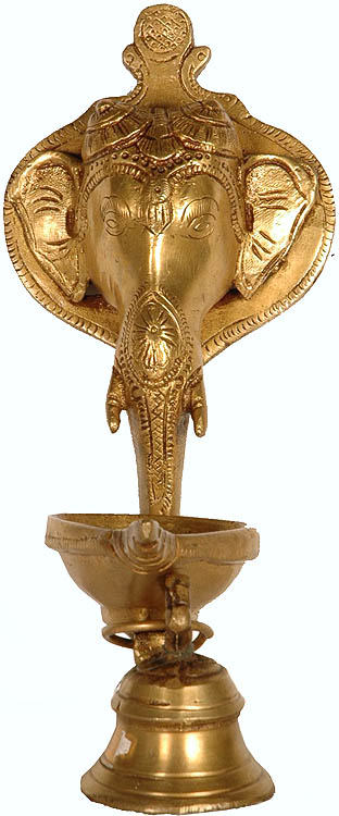 Ganesha Lamp Wall Hanging with Bell
