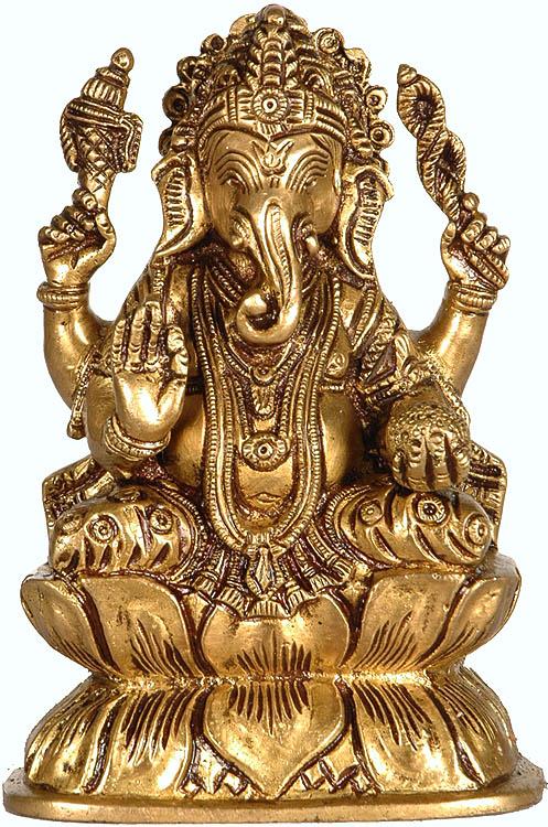 Kamalasana Shri Ganesha Anugraha Murti
