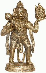 Hanuman Carrying Mount Dron