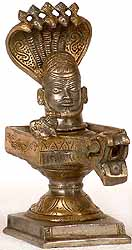Mukha Linga Protected by Five Hooded Serpent