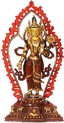 Padmapani Avalokiteshvara with Wisdomfire Aureole