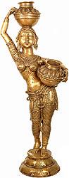 Radharani Carrying Milk for Krishna