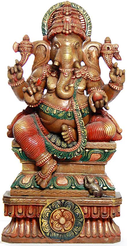 Tryakshara Ganesha