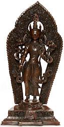 Padmapani Avalokiteshvara with Floral Aureole
