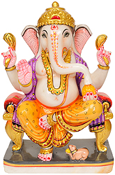 Lalitasana Ganesha Blesses Devotees