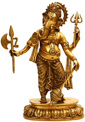 Lord Ganesha Imparting Absolute Freedom from Fear