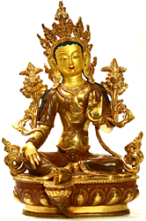 Nepalese Sculpture of Green Tara