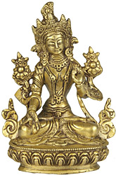 Goddess White Tara - Protects from Danger, Distress and Bestows a Long Life on Her Devotees