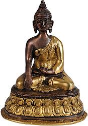 Lord Buddha in Bhumisparsha Mudra with Pindapatra
