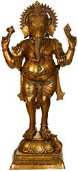 Standing Ganesha, A Form of Tryakshara Ganapati