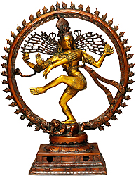 Nataraja in Golden and Brown Hues