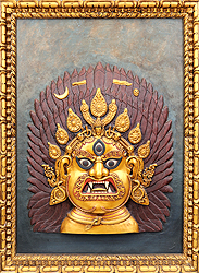 Mahakala (Framed Wall Hanging)