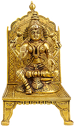 Enthroned Goddess Lakshmi