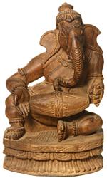 Lord Ganesha Playing Drum