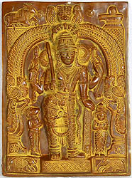 Virabhadra - Shiva's Most Trusted Guard (Wall Hanging)