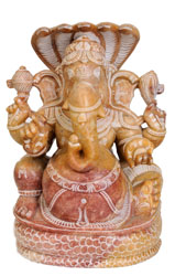 Lord Ganesha Seated on Sheshnaga
