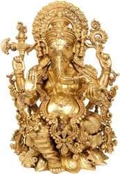 Lord Ganesha Granting Abhaya Granting Abhaya