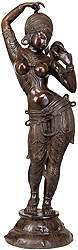 Nayika Dressing Herself (A Sculpture Inspired by Khajuraho)