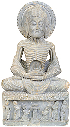 Emaciated Gandhara Buddha (Carved in Stone)