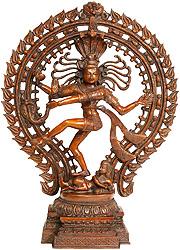 Lord Shiva in Nataraja (In Brown Hue)