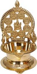 Ganesha with Ashtalakshmi Lamp