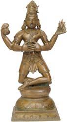 Lord Shiva Performing 'Pashupat-Yoga'