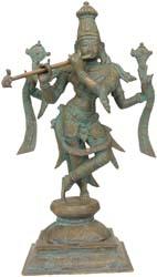 Bhagawan Vishnu as Tribhanga Krishna