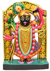 Shri Krishna as Shrinath Ji (Flat Statue)