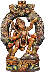 Hanuman Ji Carrying Mount Dron of Sanjeevani Herbs