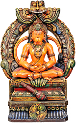 Hanuman Ji in Dhyana Mudra