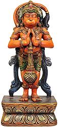 Hanuman Proceeding for Rama's Rescue from Ahiravana's Custody