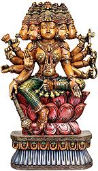 Five-faced Goddess Gayatri