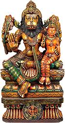 Bhagawan Narsimha with Lakshmi Ji