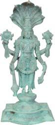 Chaturbhuja Sthanaka Vishnu with Shesha Atop