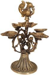 Peacock Wick Lamp