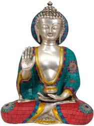 Gautama Buddha in Abhaya Mudra (Gesture of Fearlessness)