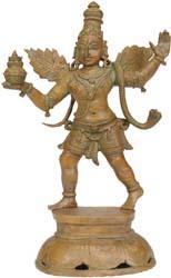 The Divine Bird Garuda with Amrit Kalash
