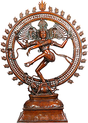Shiva as Nataraja in Brown Hue