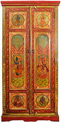 Shiva Parvati Cupboard with Ganesha
