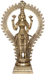 Goddess Lakshmi with Floral Aureole