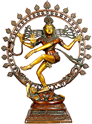 Nataraja (In Brown and Golden Hues)