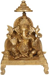 Enthroned Ganesha
