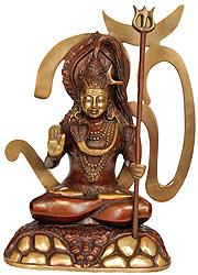Bhagawan Shiva with Om