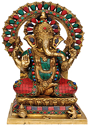 Lord Ganesha on Throne
